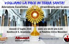 Questo giovedì 12 ore di preghiera dei giovani a Roma per la Terra Santa