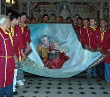 Diocesi Salerno, domani l'alzata del panno di San Matteo