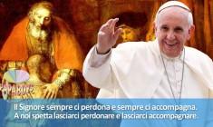 Nuovo tweet di @Pontifex_it: Il Signore sempre ci perdona e sempre ci accompagna