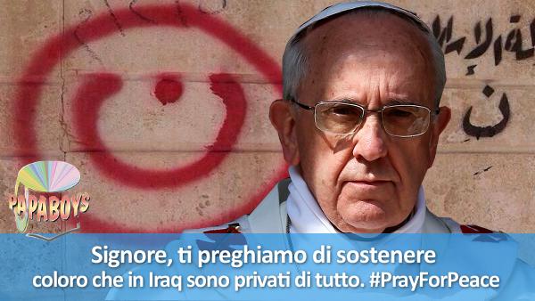Signore, ti preghiamo di sostenere coloro che in Iraq sono privati di tutto. #PrayForPeace