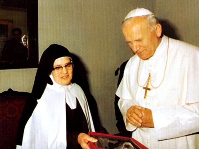 Giovanni Paolo II e Suor Lucia di Fatima