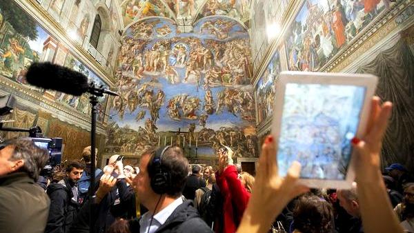Aria e luci nuove per la Cappella Sistina