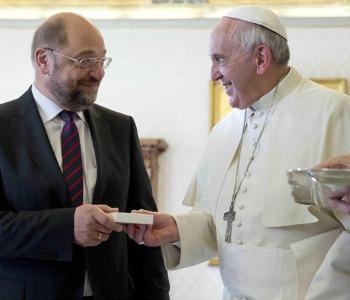 Martin Schulz dal Papa: Francesco, punto di riferimento anche per i non cattolici