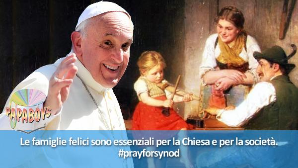 Le famiglie felici sono essenziali per la Chiesa e per la società. #prayforsynod