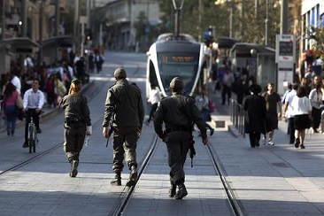 Security in Jerusalem following attack at a Light Rail station