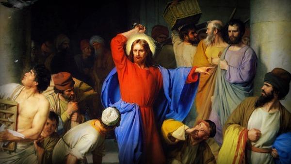 Risultati immagini per scaccia i mercanti dal tempio