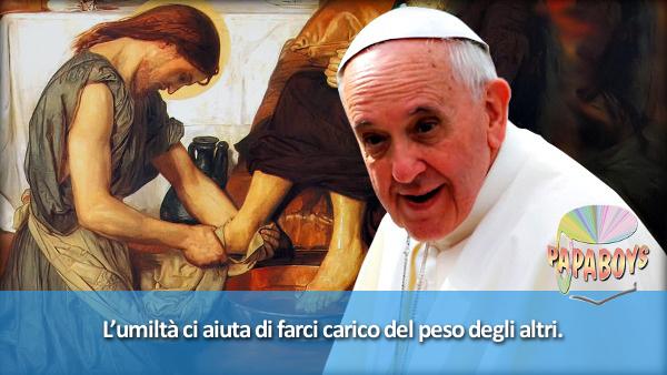 Nuovo tweet di @Pontifex_it: L'umiltà ci aiuta di farci carico del peso degli altri.