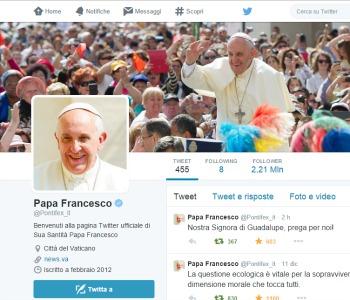 Secondo anniversario dei primi tweet di @Pontifex. Quasi 17 milioni di followers