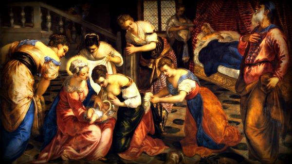 In quei giorni, per Elisabetta si compì il tempo del parto e diede alla luce un figlio. I vicini e i parenti udirono che il Signore aveva manifestato in lei la sua grande misericordia, e si rallegravano con lei.