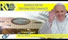 Udienza di Papa Francesco per la Comunità Papa Giovanni XXIII – REPLAY TV