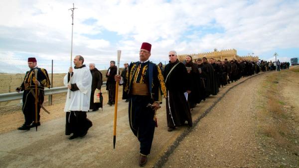 I Cattolici della Terra della Santa ricordano il battesimo di Gesù al fiume Giordano