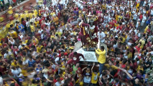 Festa del Nazareno nero, Test per la visita del Papa
