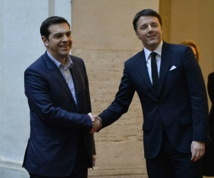 Tsipras da Renzi: la Grecia cerca alleati