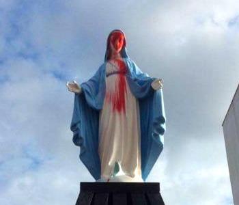 Atto vandalico: Lecce, imbrattata statua della Madonna