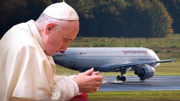 Il Papa prega per le vittime del disastro aereo in Francia, no sopravvissuti