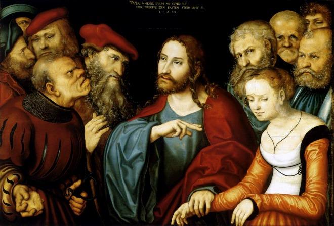 #Vangelo: Chi di voi è senza peccato, getti per primo la pietra contro di lei.