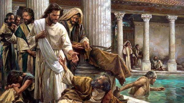 #Vangelo: All'istante quell'uomo guarì.