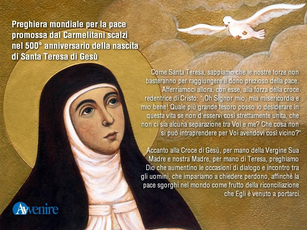 Papa Francesco: Teresa di Gesù, donna dell'audacia missionaria