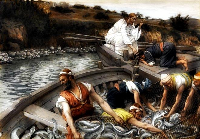 #Vangelo: Gettate la rete dalla parte destra della barca e troverete