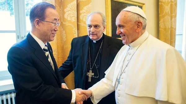 Papa Francesco ha incontrato Ban Ki-moon