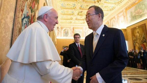 Ban Ki Moon dal Papa per l'enciclica sull'ambiente