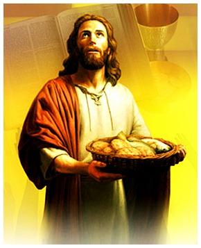 #Vangelo: Allora Gesù prese i pani e, dopo aver reso grazie, li diede a quelli che erano seduti