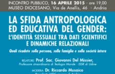 Teoria del Gender, oggi convegno ad Andria col prof. Del Missier