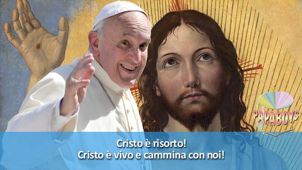 Tweet di Papa Francesco: Cristo è risorto! Cristo è vivo e cammina con noi!