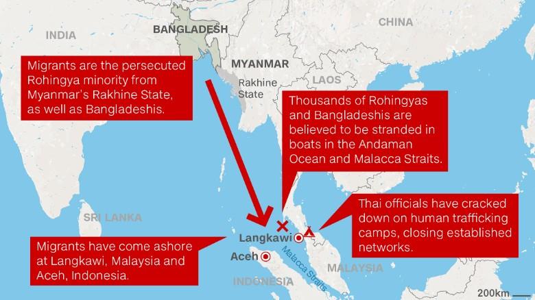 Il barcone dei disperati d'Asia