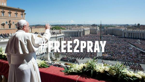 Papa Francesco: persecuzione di cristiani è crimine inaccettabile #free2pray