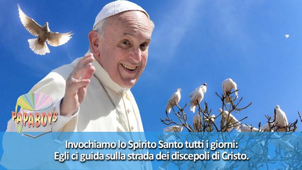 Foto Cartolina Papa Francesco Spirito Santo