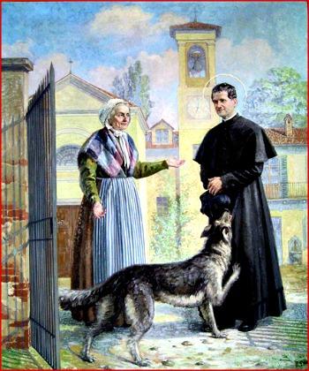 La storia di Grigio, l'Angelo che sotto forma di cane salvò la vita a Don Bosco...