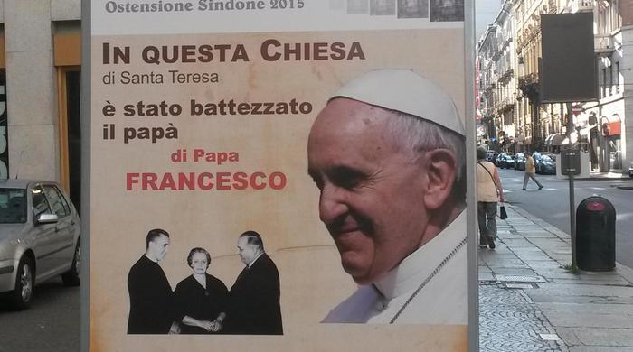 La chiesa di Santa Teresa, a Torino, dove fu battezzato il padre del Pontefice, Mario Bergoglio