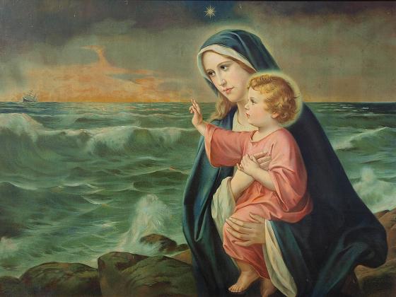 Immagine di Maria, madonna del mare, venerata nella Chiesa (1)