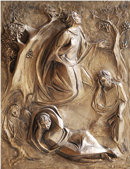 Gesù prega nel Getsemani, di Mario Toffetti