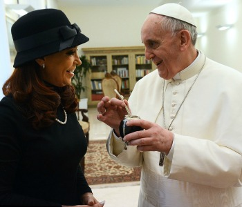 Papa Francesco riceve la presidente dell'Argentina Kirchner