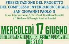 Perugia, presentazione complesso san Giovanni Paolo II