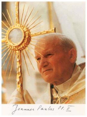 Il racconto del Corpus Domini 2004. Giovanni Paolo II : Lì c'è Gesù… per favore!