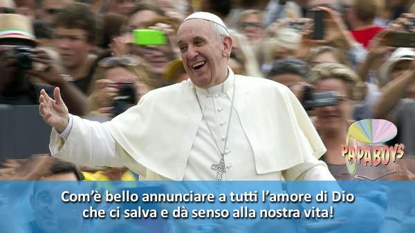Tweet di Papa Francesco: Com'è bello annunciare a tutti l'amore di Dio che ci salva