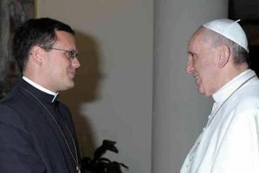 Padre João Chagas con Papa Francesco