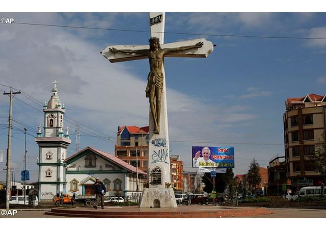 La città di El Alto, a 4 mila metri di altezza, dove il Papa arriverà l'8 luglio - AP