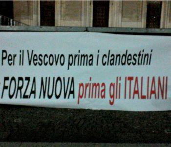 Scritta contro vescovo di Avezzano