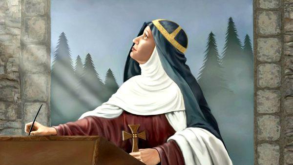 """Da molto tempo Santa Brigida desiderava conoscere il numero di colpi ricevuti da Gesù durante la sua Passione. Durante un'apparizione, Gesù le disse: """"Figlia mia, ho ricevuto sul mio corpo 5480 colpi. Se tu vorrai onorarli, dirai ogni giorno 15 pater e ave con le orazioni seguenti che ti do, durante un anno. Trascorso un anno tu avrai salutato ognuna delle mie piaghe""""."""