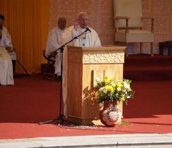 Papa Francesco: Maria è Madre. E' stata e rimane accanto ai suoi figli, nei nostri ospedali, nelle scuole, nelle nostre case...