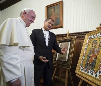 A Quito l'incontro tra il Papa e il presidente Correa