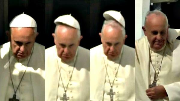 Il Papa, il vento, il volo della papalina. La carezza di Dio.