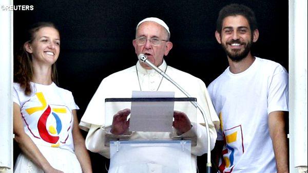 Papa Francesco: Mi sono iscritto alla GMG 2016 in Polonia e poi ricorda padre Paolo Dall'Oglio e i vescovi ortodossi rapiti in Siria.