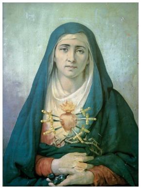 Papa Francesco prega davanti alla Virgen Dolorosa. Il miracolo del dipinto che muove gli occhi.