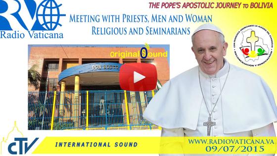 Incontro con i Sacerdoti, Religiosi, Religiose e Seminaristi nella scuola Don Bosco