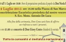 Teggiano, 50° di Ordinazione Sacerdotale di Don Cono Di Gruccio